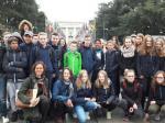 Die Austausch-Gruppe vor der UNO
